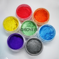 Recolored mica powder pearl pigment