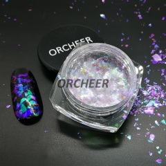 Iridescent crystal chameleon flakes for Nail art