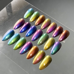 Optical chameleon pigment for Nail gel. polish